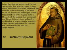 St. Anthony of Padua, 1st Sunday of Advent