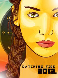 Catching Fire Poster in Vector/Pop Art/Cartoon style :)
