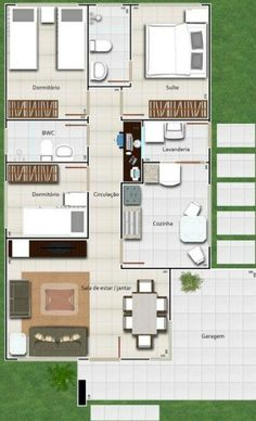 1000 images about planos de casas on pinterest primer for Planos en tres d