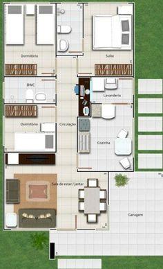 Modelos y planos de casas 1 piso 3 dormitorios barriles for Casas minimalistas planos