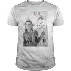 Girl Wine Beach