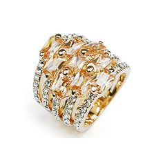 Headgear act the role ofing is tasted exceed Shan Jinxiang Bin female gift of ring of crystal ring o...