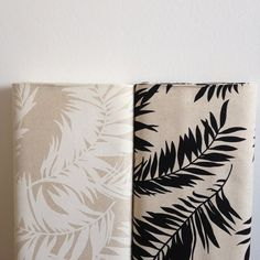 Canvas Leaf wit - Westtex-Studio Saartje - online winkel met designer-, retro- en vintage stoffen en exclusieve patronen
