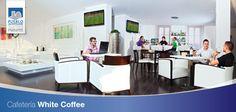 """En nuestro """"White Coffee"""" podrás relajarte mientras tomas un café, un refresco o disfrutas de uno de nuestros exquisitos cócteles. Siempre en un ambiente muy agradable."""