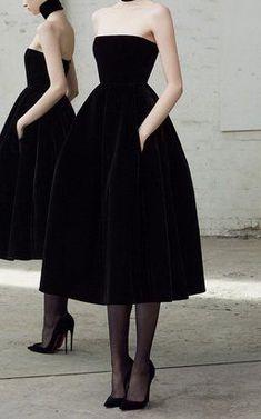 Arlett Velvet Collar Dress by Alex Perry