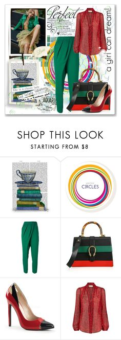 """""""A girl can dream!"""" by milenasas ❤ liked on Polyvore featuring FabFunky, Vika Gazinskaya, Gucci, MICHAEL Michael Kors, Tag, women's clothing, women, female, woman and misses"""