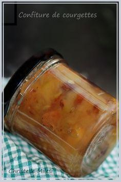 Confiture de courgettes-pommes-raisins secs