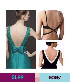 Bras Low Back Bra Converter Strap Backless Top Dress Singlet Black White  Beige Straps  ebay ac7e7ed84