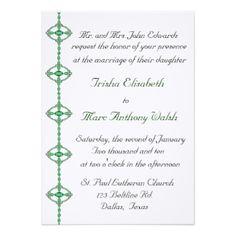 Faire-part de mariage irlandais d'accent Carton Invitation, Celtic Wedding, Greeting Card, Irish Wedding, Cards