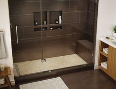 Douche italienne moderne avec banc