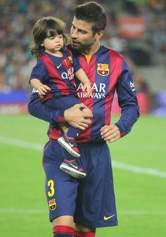 Gerard Pique with his son, Milan