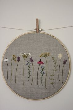 Botanical Embroidery Hoop Art by JuniperandBerry on Etsy                                                                                                                                                                                 More