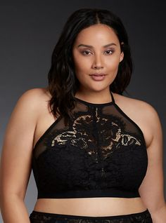 What to Wear to a Musical Festival? Lingerie May Be All You Need | High neck bralette from Torrid