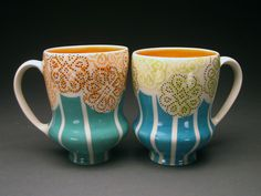 Meredith Host mugs pottery