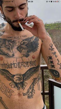 Weird Tattoos, Mini Tattoos, Body Art Tattoos, Sleeve Tattoos, Small Chest Tattoos, Chest Piece Tattoos, Tattoos For Baby Boy, Tattoos For Guys, Dragon Tattoo Designs