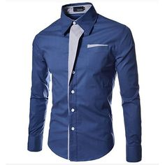 735205d376 Men s Casual Slim Shirt - Solid Colored Red XL   Long Sleeve   Spring   Fall