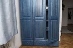 Blue Wood, Wood Texture, Armoire, Furniture, Home Decor, Clothes Stand, Decoration Home, Closet, Room Decor