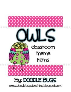 I want this for my classroom! Owl Classroom Theme Items {calendar cards, days of the week, months of the year, deskplates, word wal. Owl Theme Classroom, Classroom Design, Preschool Classroom, Future Classroom, Classroom Ideas, Lunch Boxe, Classroom Organisation, Too Cool For School, School Stuff