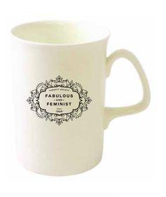 "Fawcett Society - ""Fabulous and Feminist"" Bone China Mug - Buy Now"
