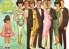 Sharon's Sunlit Memories: Saalfield Double Wedding No. 4432 / 1964  #VintageWeddings  http://www.ccvatlresale.com/#!vintage-style-weddings/c8bf