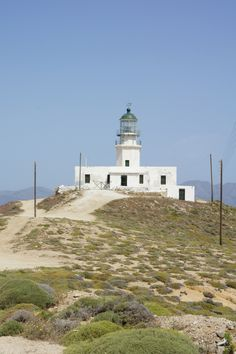Guide for a road trip in Mykonos, Greece. You will see Armenistis Lighthouse on the way!