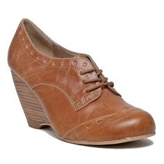 Chelsea Crew Claire Tan Oxford Wedges