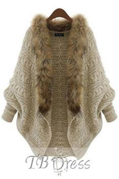 Bat Sleeve Wool Collar Lace-Up Sweater Cardigan http://www.tbdress.com/product/Beige-Bat-Sleeve-Wool-Collar-Lace-Up-Sweater-Cardigan-10978924.html