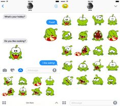 Image result for imessage cut the rope sticker icon