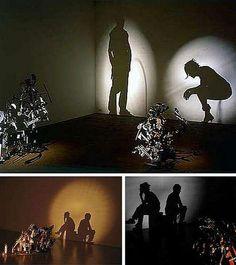 Repurposing objects into silhouette art