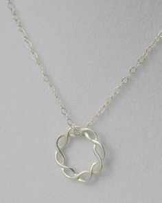 Sterling Silver Intertwined Circle; Wedding, Anniversary, Friendship, Christmas on Etsy, $28.50