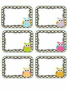 Editable Owl labels may print these on cardstock or full label sheets as they do not fit a certain size. This is for personal use . Owl Labels, Printable Labels, Printables, Owl Theme Classroom, Classroom Labels, Notebook Labels, School Frame, School Labels, Owl Always Love You