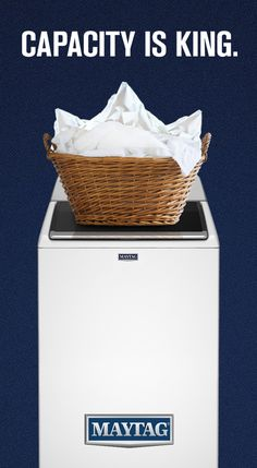 Introducing the largest capacity agitator washer available at 4.7 cu. ft.