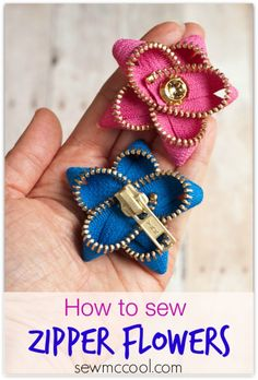 how to make zipper flowers by sewmccool.com