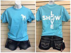 SHOW LOVE Horse Tee - www.stockyardstyle.com