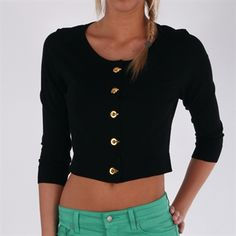 Calvin Klein Cropped Cardigan with Grommet and Toggle Closure #VonMaur #CalvinKlein #ButtonFront