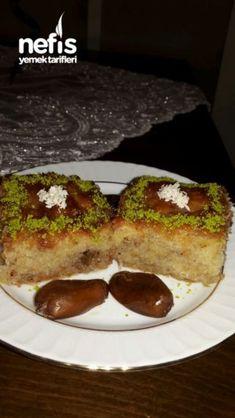Kadayifli Revani (no such amazing flavor) - Site Biscotti, Baked Potato, Yogurt, Cake Recipes, Breakfast Recipes, French Toast, Deserts, Food And Drink, Cooking