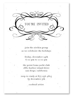 Corporate invitations antique script plantable corporate elegant business invitations formal scrolls stopboris Images