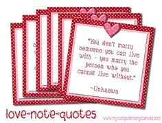"""Did you seen the """"Love Note Quotes"""" I made last year? So fun. Each card is a lovey-dovey quote for your Valentine. Hide them. Valentine Day Love, Valentine Crafts, Valentine Day Cards, Valentines Notes, Valentine Quote, Valentine Ideas, Hubby Love, Husband, Happy Hearts Day"""