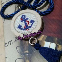 Kanaviçe etamin kasnak kolye handmade Byİkbalşeyda crossstitch