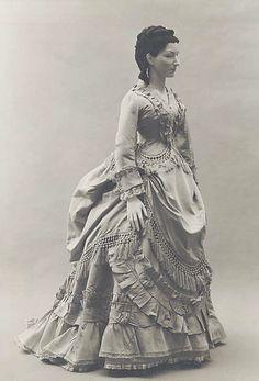 c.1871, French Silk Dress.