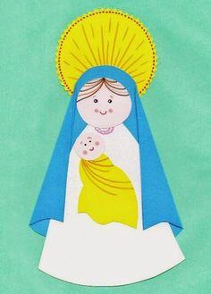 Blog de Religión - Meseta de Orcasitas: MANUALIDAD - MARÍA CON EL NIÑO