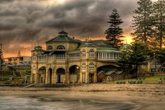 Cottesloe Beach and Indiana Teahouse in Western Australia
