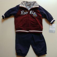 NWT Carter's Boys 3 Pcs Set Mommy's Rookie Sweatshirt Bodysuit & Pants Size 3M  Buy It Now At:  http://stores.ebay.com/Bumblebee-Boutique99