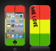 One Love Reggae  Apple iPod Touch 4 4th Gen Vinyl by ItsASkin, $9.95