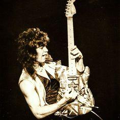With The RED PAINT Barely Dry On The INFAMOUS FRANKENSTEIN MONSTER, EDDIE (VAN HALEN) Performs At [SMITH SPECTRUM - LOGAN, UTAH] March 31st 1979! [Photo Credit: Cameron Hancock] #evh #eddievanhalen #alexvanhalen #davidleeroth #diamonddave #michaelanthony #vintage #classic #klassik #rock #music #history #1970s #1979 #frankenstein #frankenstrat #guitar #LoganUtah #RockHistory #vantastikhistory #vantastik #vanhalen #vanhalenhistory