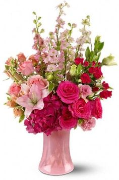 This Pin was discovered by tanwirul hoque. Discover (and save!) your own Pins on Pinterest. | See more about pink flower arrangements, flower bouquets and flowers garden.