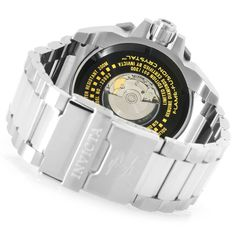 Invicta Reserve Men's 63mm Grand Octane Limited Edition Swiss Automatic 3.06ctw Diamond Watch caseback and bracelet