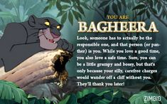 "Which 'Jungle Book' Character Are You? - I got Bagheera! I relate the most to him. He is my most favorite character from ""The Jungle Book"" Disney Pixar, Disney Animation, Disney Art, Disney Characters, Jungle Book Bagheera, King Louie Jungle Book, Jungle Book Party, Aquarius Sign, Cub Scouts"