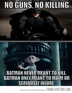 Batman never meant to kill…