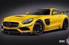 Gorgeous #MercedesBenz in bright yellow. #SuperCar #Speed #Power #Style #Design